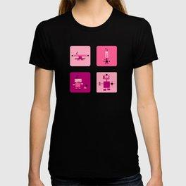 Robots-Pink T-shirt