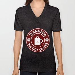 Bloody Coffee Unisex V-Neck