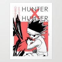 hunter x hunter Art Prints featuring Hunter X Hunter - Print by monogataris