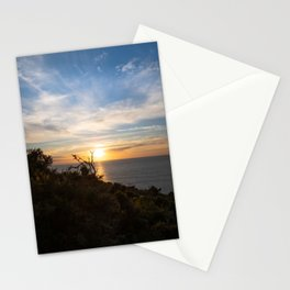 trees with beautiful sunset over the sea	 Stationery Cards