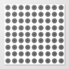 Black and White Mandala | Secret Geometry Canvas Print