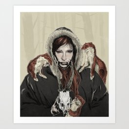 SKAÐI - Dweller of the Rocks Art Print