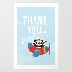 Panda says Thanks! Art Print