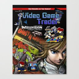 Video Game Trader #15 Cover Design Canvas Print