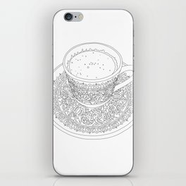 Tukish Coffee Line Art iPhone Skin