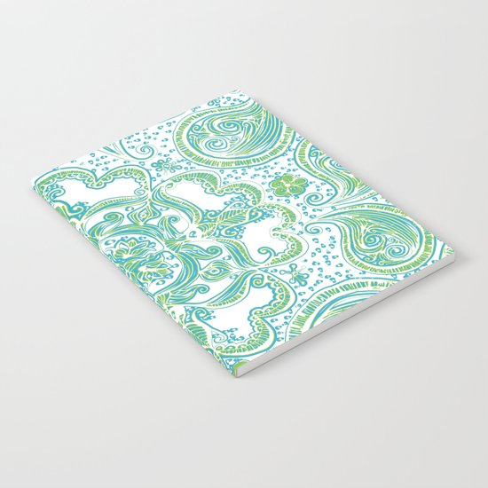 Paisley Mandala - Blue & Green Notebook