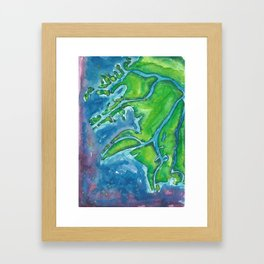 Heartwater Delta Framed Art Print