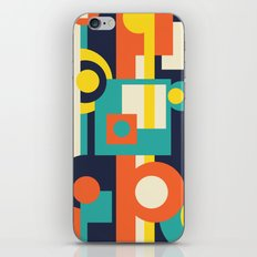 Funky Geometry (Modern Vibrant Color Palette) iPhone Skin