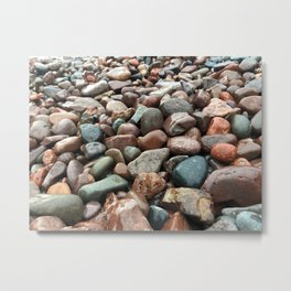 Lake Superior Rocks Metal Print