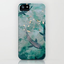 Shoal of Sharks (Color) iPhone Case