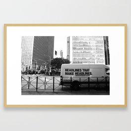 New York Post Truck, Manhattan Framed Art Print
