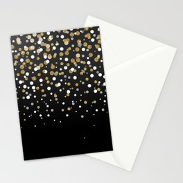 Pretty modern girly faux gold glitter confetti ombre illustration Stationery Cards