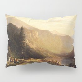 An Artist S View Of Mt Lafayette 1871 By Thomas Hill | Reproduction Pillow Sham