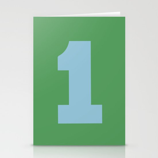 Number 1 Stationery Cards