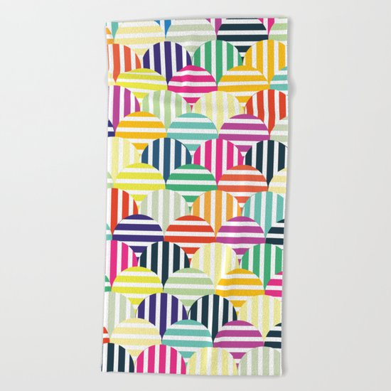 Colorful Circles IV Beach Towel