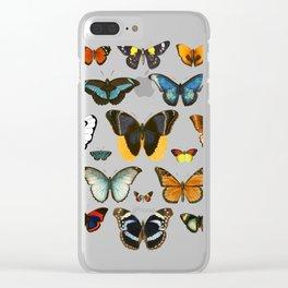 Entomology (Black) Clear iPhone Case
