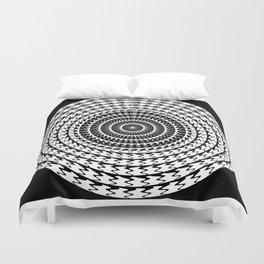 Mandala ...black and white Duvet Cover