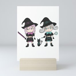 Black Witch Meeting Magic Girl ブラックウィッチ集合ミニ 魔法少女 Mini Art Print