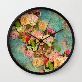 ROSES SO ROMANTIC Wall Clock