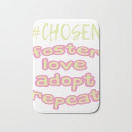 "Great Tee typography design saying ""Chosen"" and showing your the chosen one! Chosen, GIRLS CHOSEN Bath Mat"