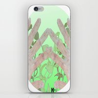 tote bag iPhone & iPod Skins featuring Bag by Art Barf