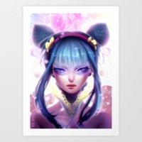 GIRL - 日本アニメ Art Print