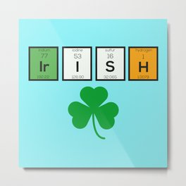 Irish chemcial elements Bc71n Metal Print