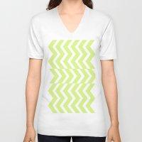 chevron V-neck T-shirts featuring Chevron  by emain