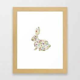 Springtime Flower Bunny Framed Art Print