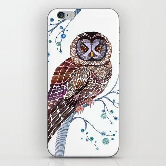 lacy owl iPhone & iPod Skin