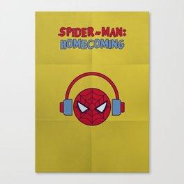 Spider-man Homecoming Minimalist Poster - Headphones Canvas Print