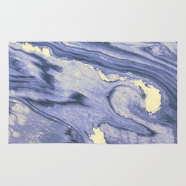 Lavender Marble With Cream Swirls Rug
