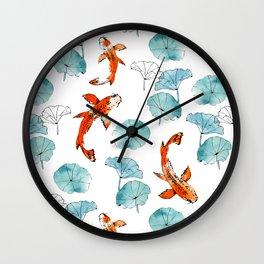 Waterlily koi Wall Clock