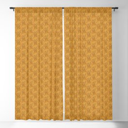 Yellow Attica print Blackout Curtain