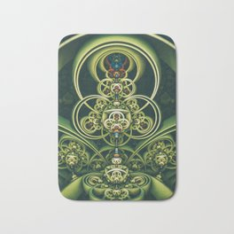 Time Shell IV. Green Abstract Geometry Bath Mat