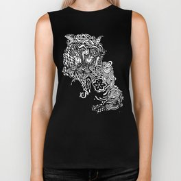Dragon Cat Biker Tank