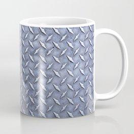 Steel Diamond Pattern Metal Grating Coffee Mug