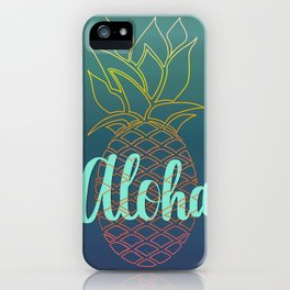 Pineapple Under the Sea iPhone Case