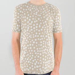Little wild cheetah spots animal print neutral home trend warm honey yellow beige All Over Graphic Tee