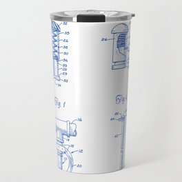 Fire Sprinkler Head Closure Plug Vintage Patent Hand Drawing Travel Mug