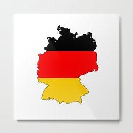 German Flag Map Metal Print