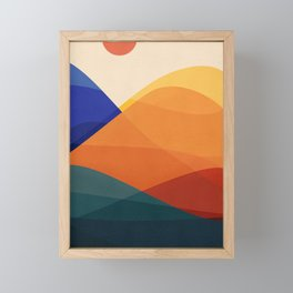 Meditative Mountains Framed Mini Art Print