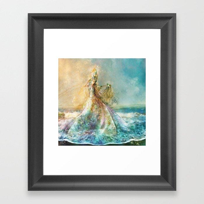 Shell Maiden Gerahmter Kunstdruck