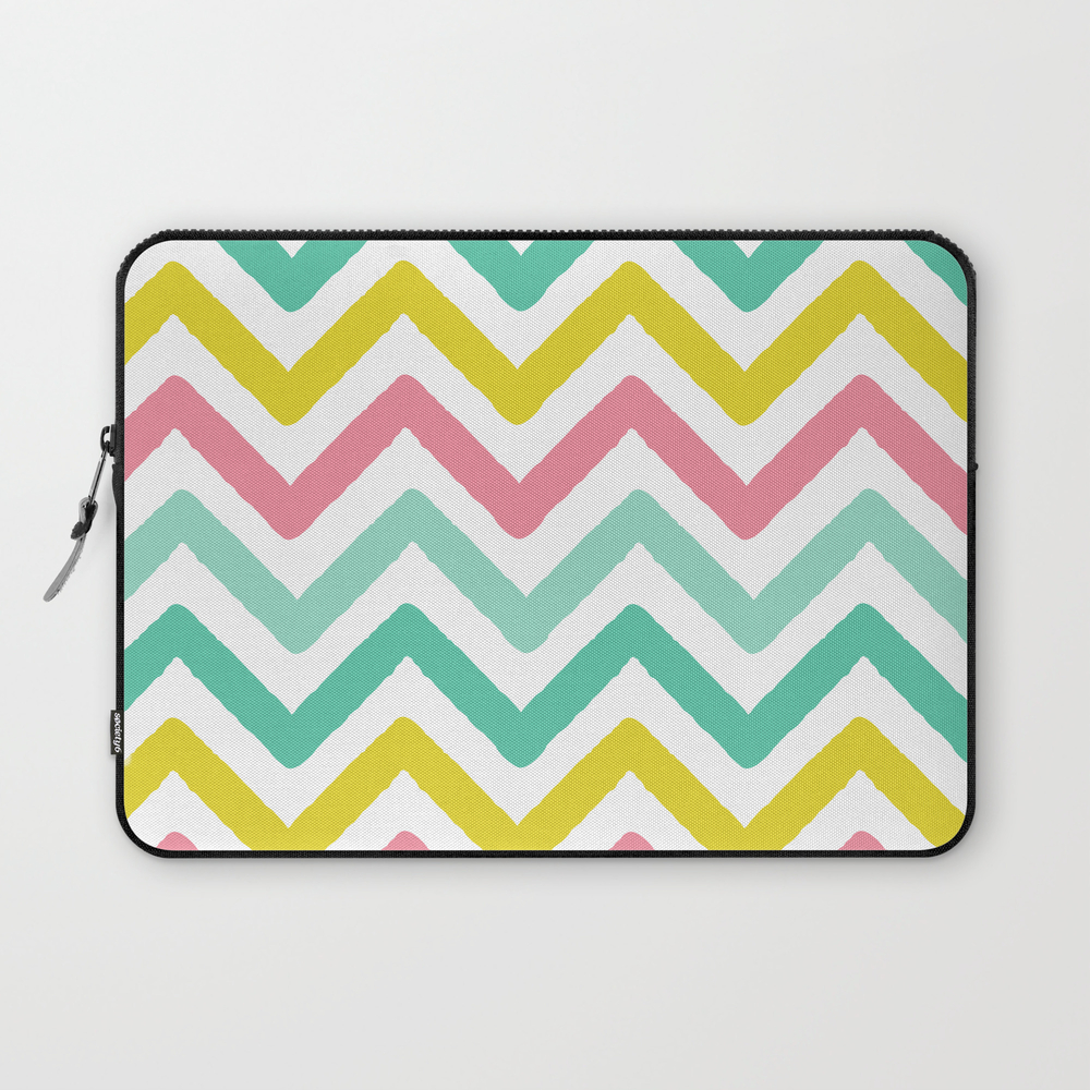 Colorful Zig Zag Chevron Stripes Pattern Laptop Sleeve LSV8466262