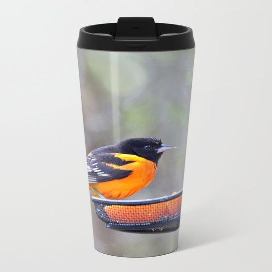 Oranges for the Oriole Metal Travel Mug
