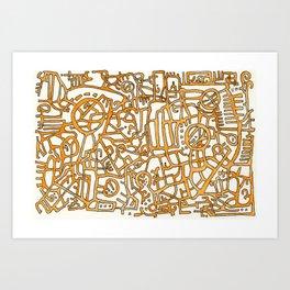 Begin/End Series in Orange Art Print