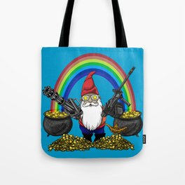 Gnome Guns Tote Bag