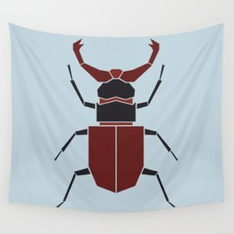 { the geometric forest series - stag beetle } Wall Tapestry