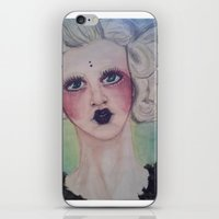 siren iPhone & iPod Skins featuring Siren by Darkest Devotion