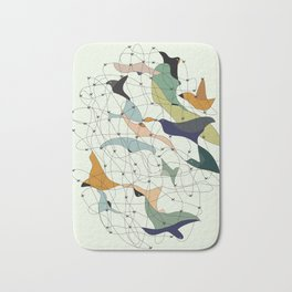 Chained birds Bath Mat